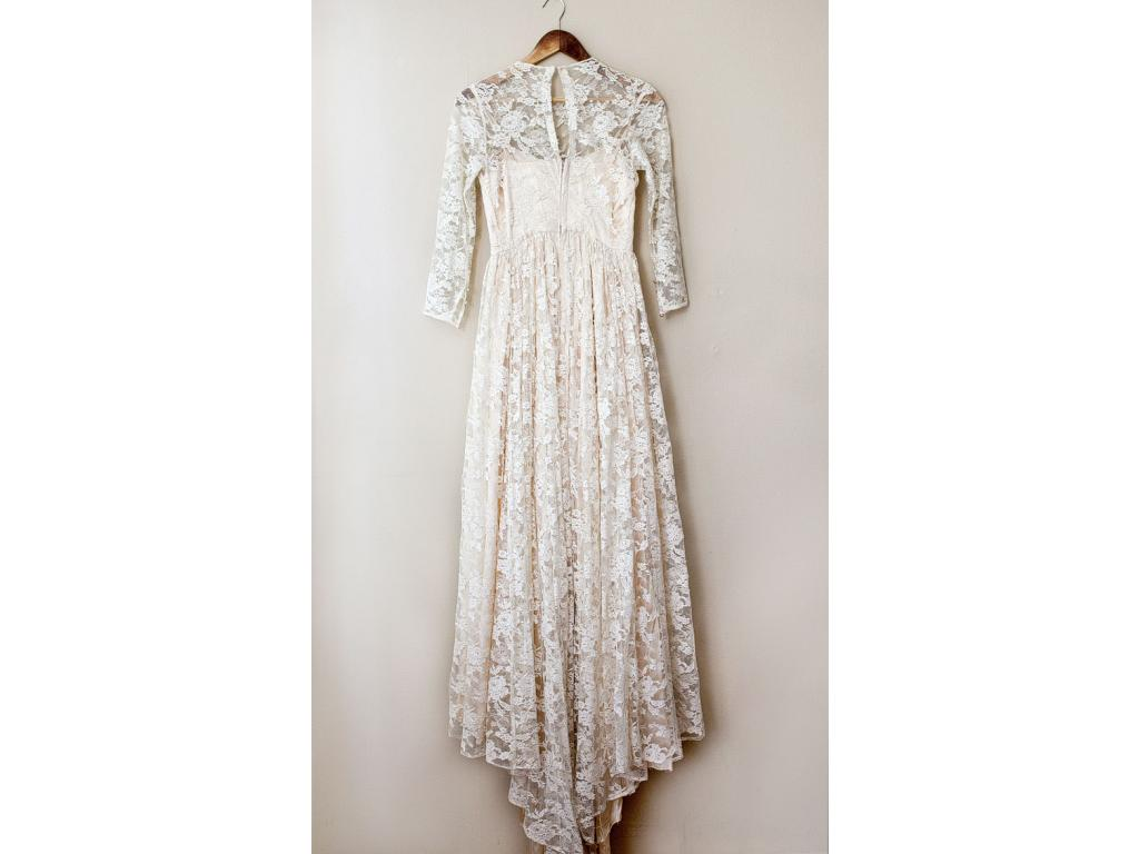 Used Other A 1950s Classic Lace Champagne Wedding Dress
