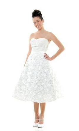 used other tealength corsetbacked dress wedding dress