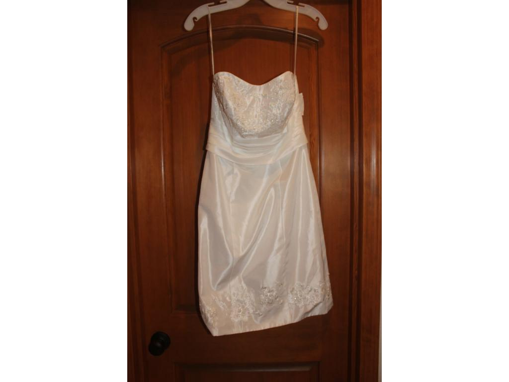 Used David S Bridal 2 In 1 Convertible Wedding Dress Size 4 200