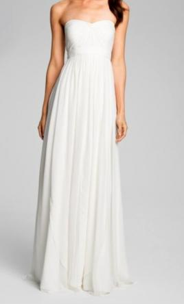 "Jenny Yoo ""Monarch"" Sweetheart Neckline Layered Chiffon Gown 12"