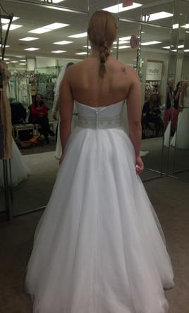 David S Bridal Strapless Tulle Ball Gown Wedding Dress With Beade