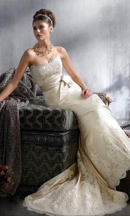 Used Lazaro 3814 Wedding Dress Size 10 1 850