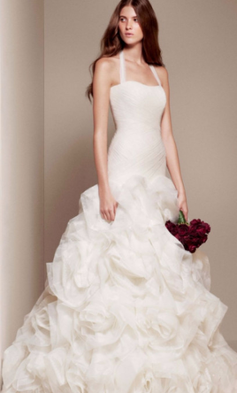 White By Vera Wang Organza And Tulle Wedding Dress