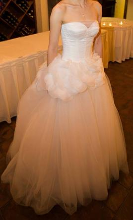 used vera wang strapless ball gown with satin corset