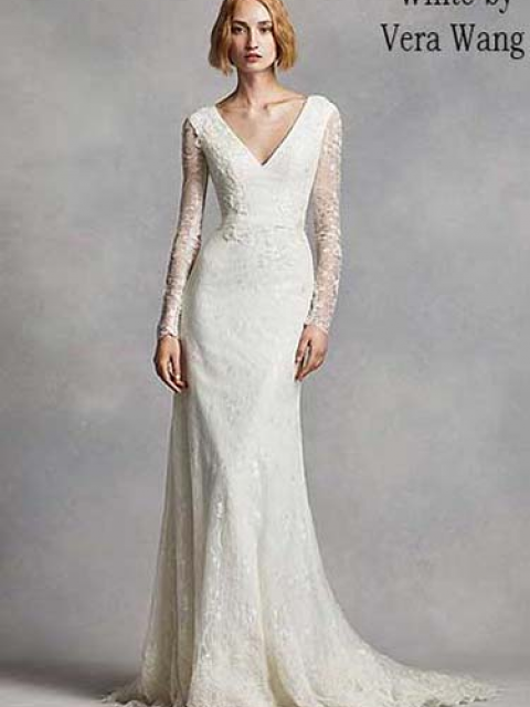 Used Vera Wang Wedding Dress Size 6 500