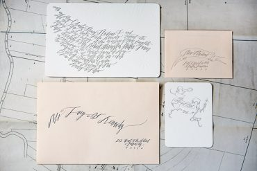 Betsy Dunlap Calligraphy Letterpress Wedding Invitations