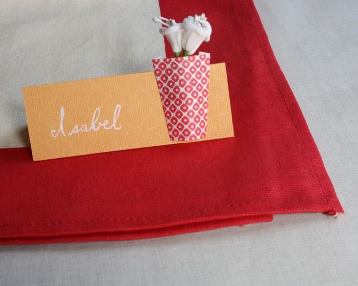 diy paper wedding place cards