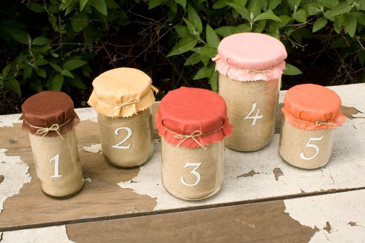 DIY Table Number Jars