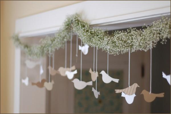 DIY Wedding Flower Garland