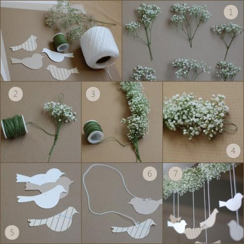 wedding fresh flower garland tutorial