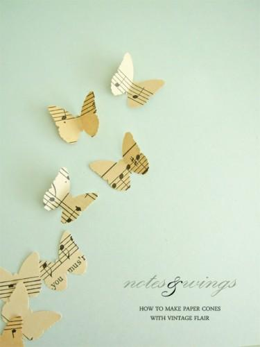 diy paper wedding butterflies