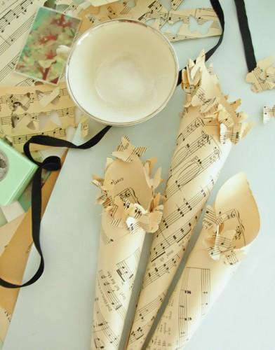 diy wedding paper cones