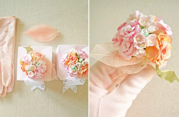 diy flower wedding favor box