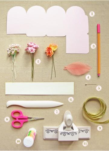 DIY Flower Favor Box - Once Wed