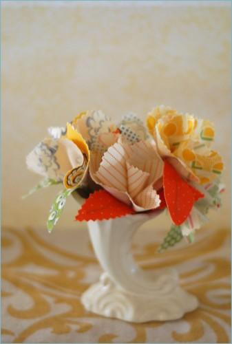 diy fabric flower boutonnieres
