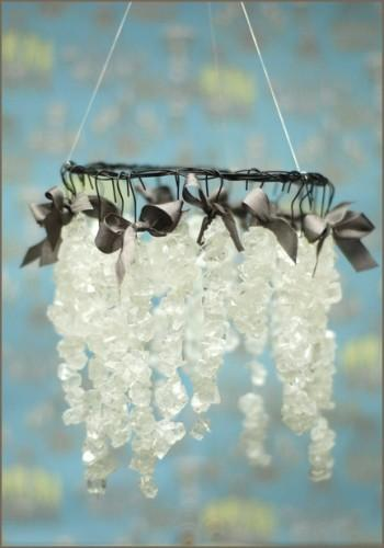 Diy rock candy chandelier once wed