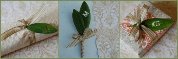 DIY Wedding Leaf Boutonniere