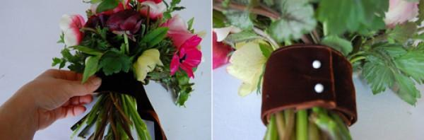 red anemone wedding bouqet