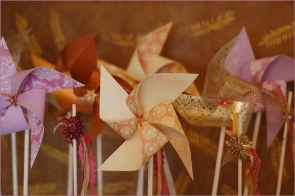 DIY Wedding Pinwheels