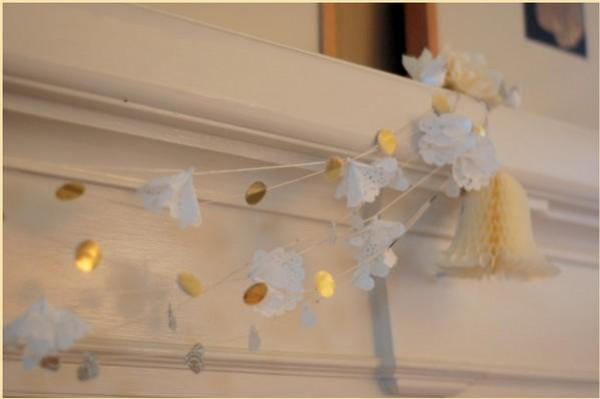 diy wedding doily garland