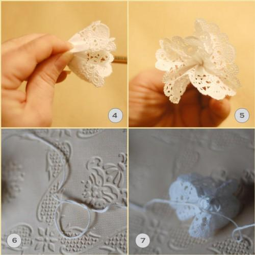 doily wedding garland