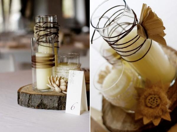 Diy Rustic Wedding Centerpieces Once Wed