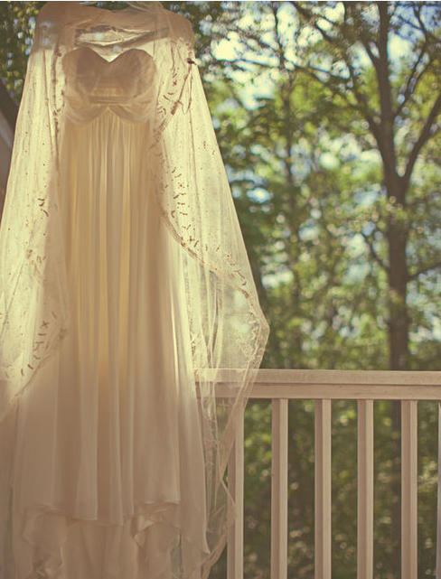 cotton white wedding dress