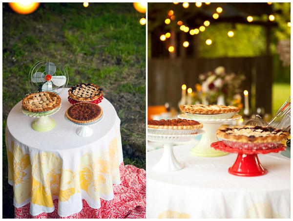 wedding pie dessert tables