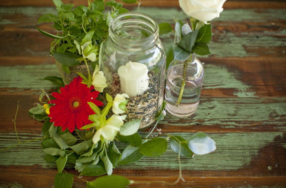 Wedding Table Decorations With Mason Jars