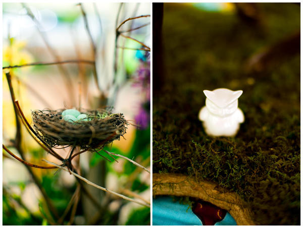 bird wedding centerpieces