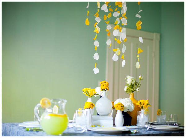 DIY Yellow Wedding Table