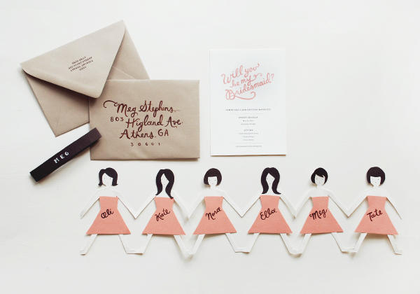 diy bridesmaids cards