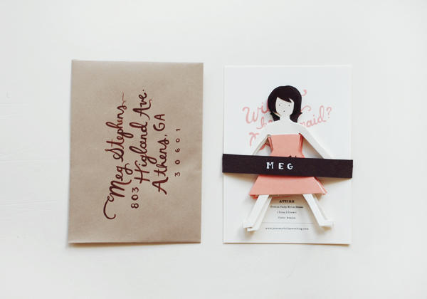 gift for bridesmaid: bridesmaid cards tutorial