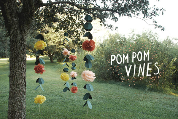 Diy wedding pom pom vines once wed diy wedding pom pom vines solutioingenieria Images