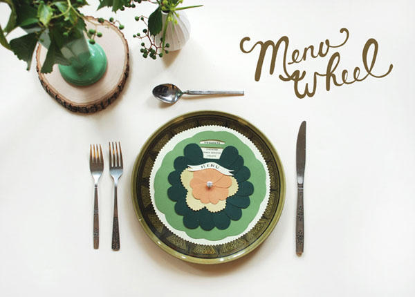diy-wedding-menu