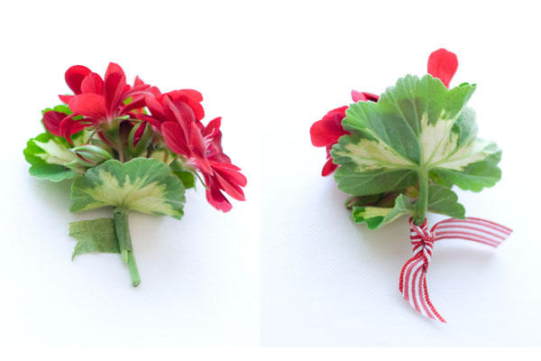 redweddingboutonniere Make the morning of or the night before