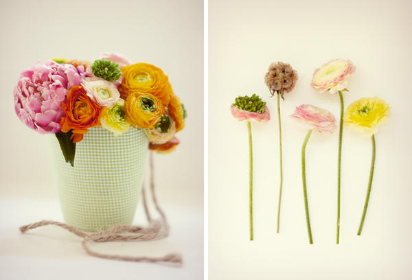 DIY Fabric Flower Containers
