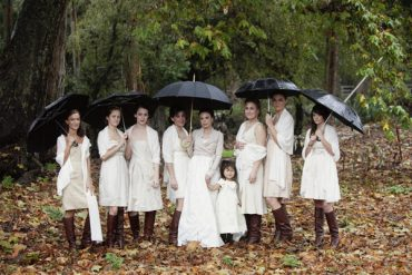 umbrella outdoor wedding