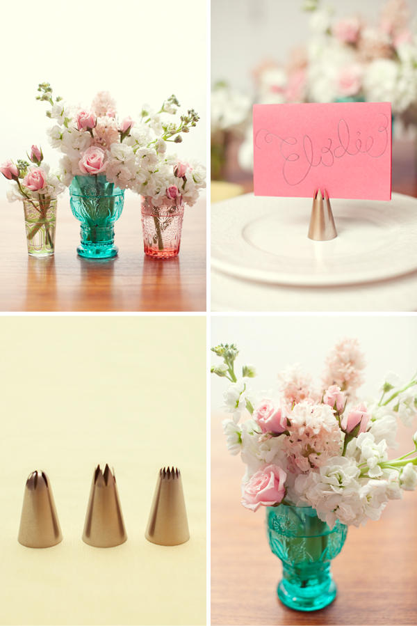 DIY Wedding Project Ideas Icing Place Card Holders DIY Wedding Blog
