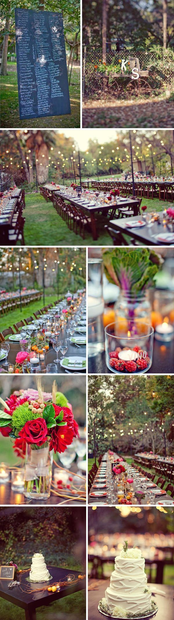 A sweet backyard wedding ii once wed for Outdoor wedding reception ideas