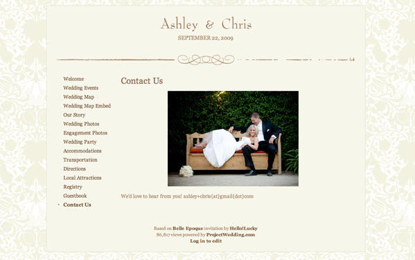 Project Wedding S Free Websites Allow Unlimited Photo Uploads And Have Great Features Like Maps A Guestbook Your Guests Will Love