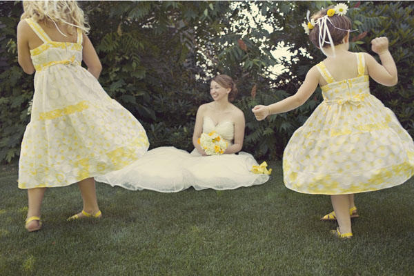 Yellow flower girl dresses once wed yellow flower girl dresses mightylinksfo