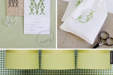 gingham and cross stitch