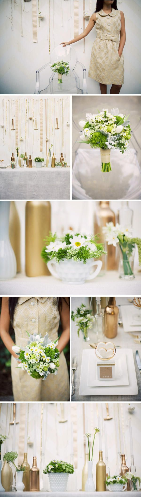Green and White Wedding Centerpieces Decor | Wedding-Decorations
