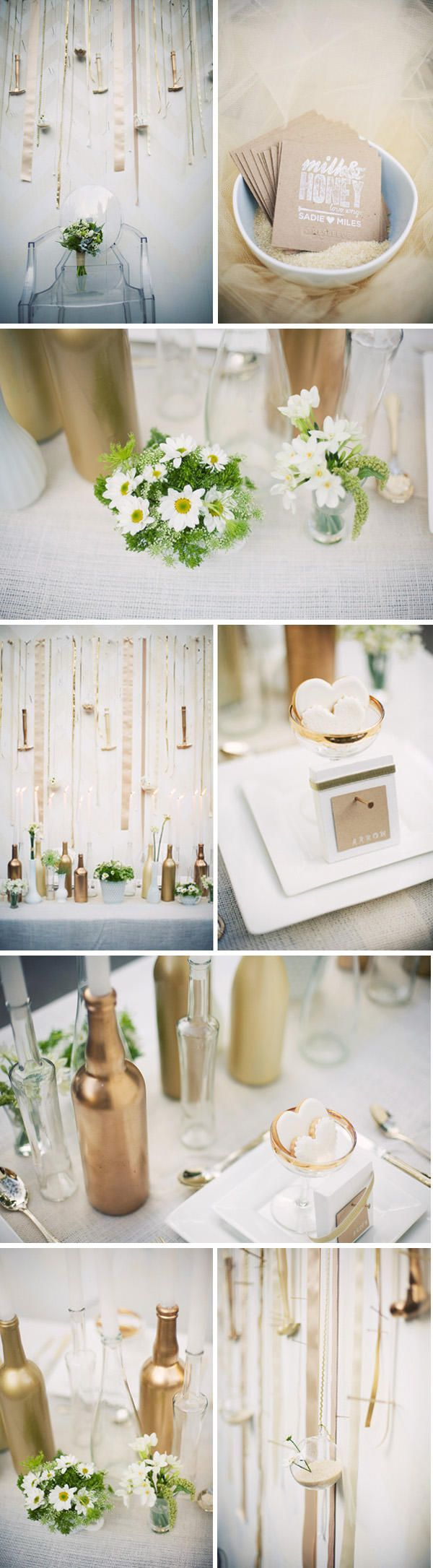 gold wedding vases