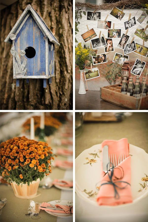 backyard wedding centerpieces