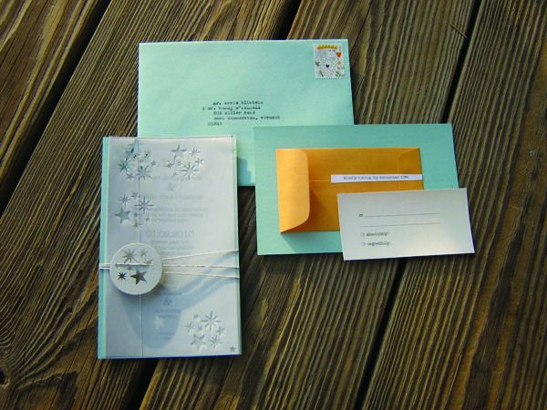 diy winter wedding invitation