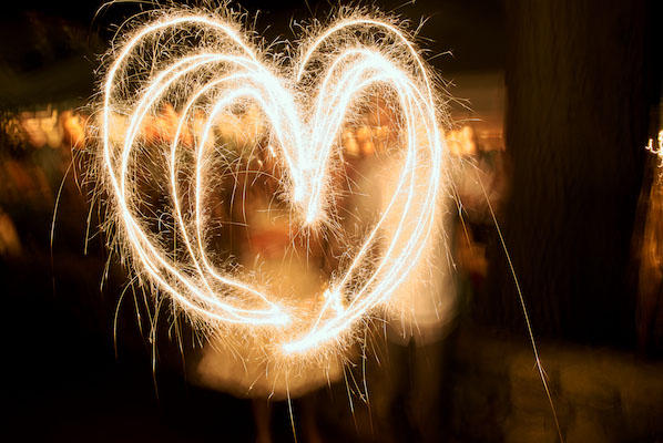 heart wedding sparklers