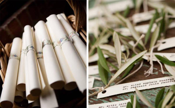 olive branch escort cards