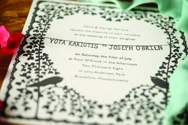 papercut wedding invitation